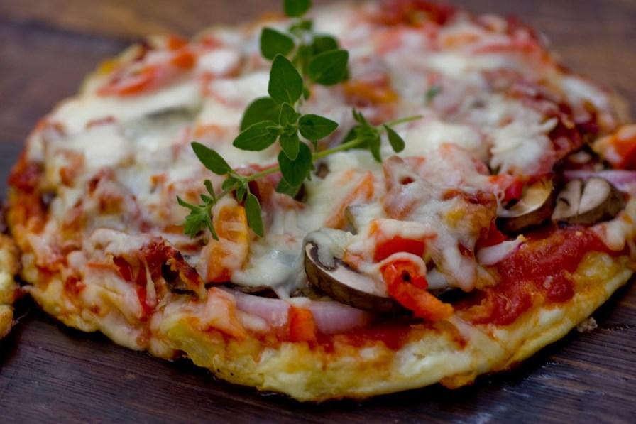 Pizza with Cauliflower Dough
